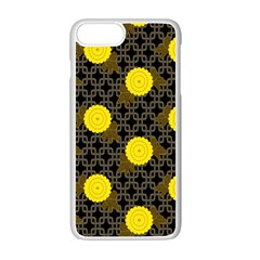 Sunflower Yellow Apple Iphone 7 Plus White Seamless Case by Alisyart
