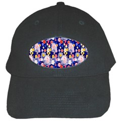 Season Flower Arrangements Purple Black Cap