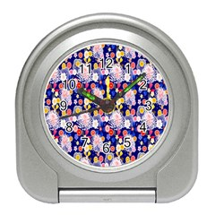Season Flower Arrangements Purple Travel Alarm Clocks