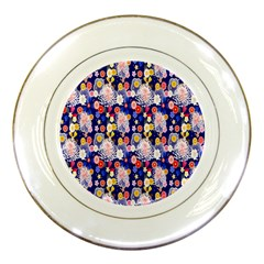 Season Flower Arrangements Purple Porcelain Plates