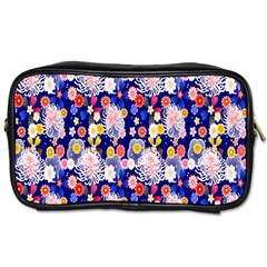 Season Flower Arrangements Purple Toiletries Bags by Alisyart