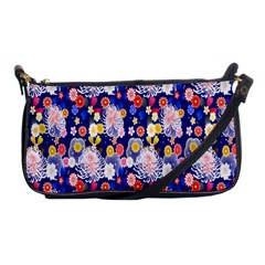 Season Flower Arrangements Purple Shoulder Clutch Bags by Alisyart