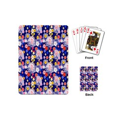 Season Flower Arrangements Purple Playing Cards (mini)  by Alisyart