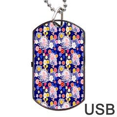 Season Flower Arrangements Purple Dog Tag Usb Flash (one Side)