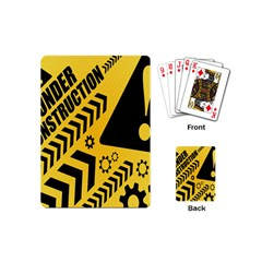 Under Construction Line Maintenen Progres Yellow Sign Playing Cards (mini)