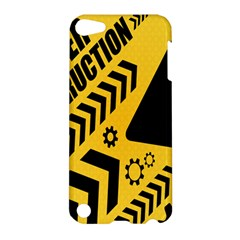 Under Construction Line Maintenen Progres Yellow Sign Apple Ipod Touch 5 Hardshell Case by Alisyart