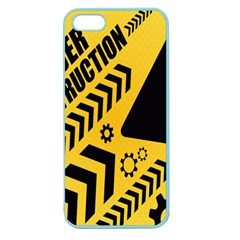 Under Construction Line Maintenen Progres Yellow Sign Apple Seamless Iphone 5 Case (color)