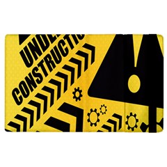 Under Construction Line Maintenen Progres Yellow Sign Apple Ipad 2 Flip Case