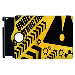 Under Construction Line Maintenen Progres Yellow Sign Apple Ipad 2 Flip 360 Case by Alisyart