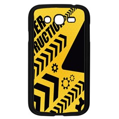 Under Construction Line Maintenen Progres Yellow Sign Samsung Galaxy Grand Duos I9082 Case (black)