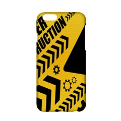 Under Construction Line Maintenen Progres Yellow Sign Apple Iphone 6/6s Hardshell Case by Alisyart