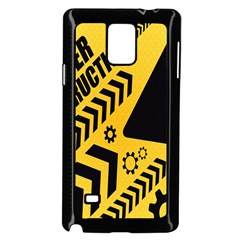 Under Construction Line Maintenen Progres Yellow Sign Samsung Galaxy Note 4 Case (black)