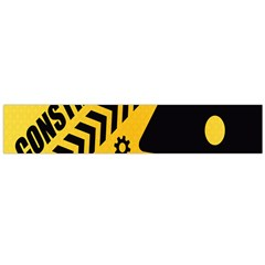 Under Construction Line Maintenen Progres Yellow Sign Flano Scarf (large)