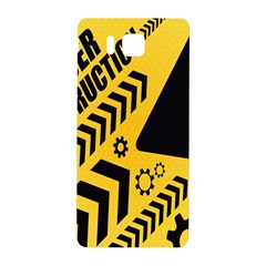 Under Construction Line Maintenen Progres Yellow Sign Samsung Galaxy Alpha Hardshell Back Case