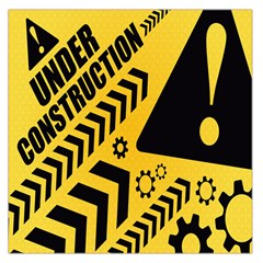Under Construction Line Maintenen Progres Yellow Sign Large Satin Scarf (square)
