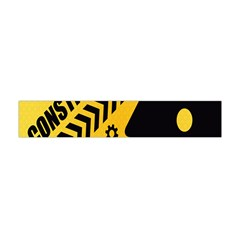 Under Construction Line Maintenen Progres Yellow Sign Flano Scarf (mini)