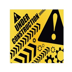 Under Construction Line Maintenen Progres Yellow Sign Small Satin Scarf (square)
