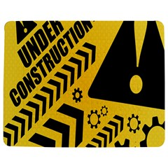 Under Construction Line Maintenen Progres Yellow Sign Jigsaw Puzzle Photo Stand (rectangular)