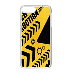 Under Construction Line Maintenen Progres Yellow Sign Apple Iphone 7 Plus White Seamless Case