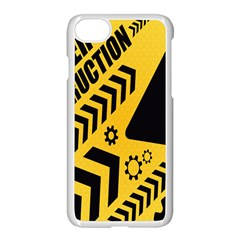 Under Construction Line Maintenen Progres Yellow Sign Apple Iphone 7 Seamless Case (white)