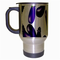 Vegetables Eggplant Purple Travel Mug (silver Gray)