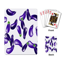 Vegetables Eggplant Purple Playing Card