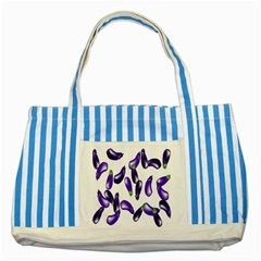 Vegetables Eggplant Purple Striped Blue Tote Bag by Alisyart
