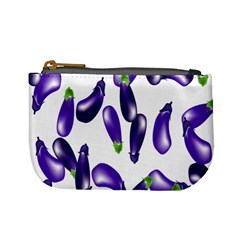 Vegetables Eggplant Purple Mini Coin Purses