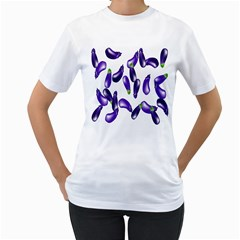 Vegetables Eggplant Purple Women s T Shirt (white)  by Alisyart
