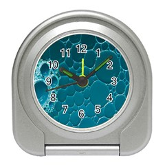 Water Bubble Blue Travel Alarm Clocks