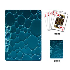 Water Bubble Blue Playing Card by Alisyart