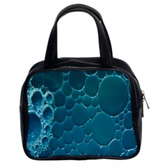 Water Bubble Blue Classic Handbags (2 Sides) by Alisyart