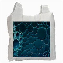 Water Bubble Blue Recycle Bag (two Side)