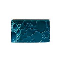 Water Bubble Blue Cosmetic Bag (small)