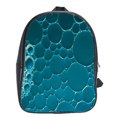 Water Bubble Blue School Bags(large)