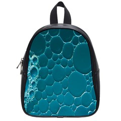 Water Bubble Blue School Bags (small)