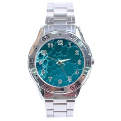 Water Bubble Blue Stainless Steel Analogue Watch