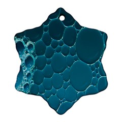 Water Bubble Blue Ornament (snowflake)