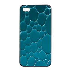 Water Bubble Blue Apple Iphone 4/4s Seamless Case (black)