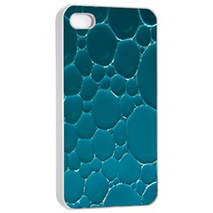 Water Bubble Blue Apple Iphone 4/4s Seamless Case (white)