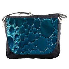 Water Bubble Blue Messenger Bags