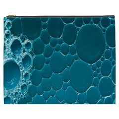 Water Bubble Blue Cosmetic Bag (xxxl)