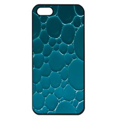 Water Bubble Blue Apple Iphone 5 Seamless Case (black)