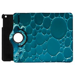 Water Bubble Blue Apple Ipad Mini Flip 360 Case