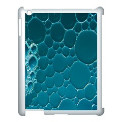 Water Bubble Blue Apple Ipad 3/4 Case (white)