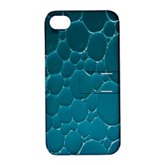 Water Bubble Blue Apple Iphone 4/4s Hardshell Case With Stand
