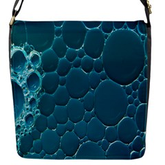 Water Bubble Blue Flap Messenger Bag (s)