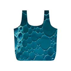 Water Bubble Blue Full Print Recycle Bags (s)