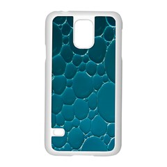 Water Bubble Blue Samsung Galaxy S5 Case (white)
