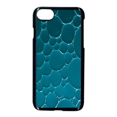 Water Bubble Blue Apple Iphone 7 Seamless Case (black) by Alisyart